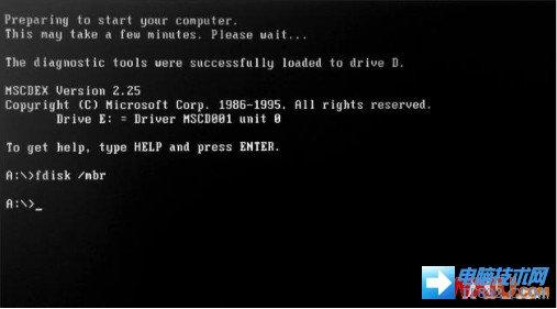 """开机出现""""Disk I/O error"""""""