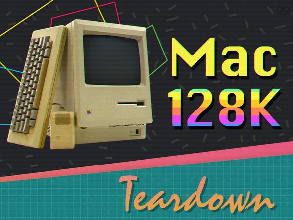 苹果古董级电脑Macintosh 128k拆机图