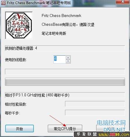 CPU检测工具:国际象棋