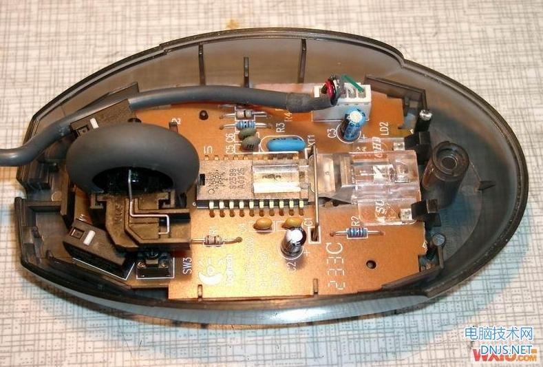 鼠标维修:鼠标单击变双击的维修实例