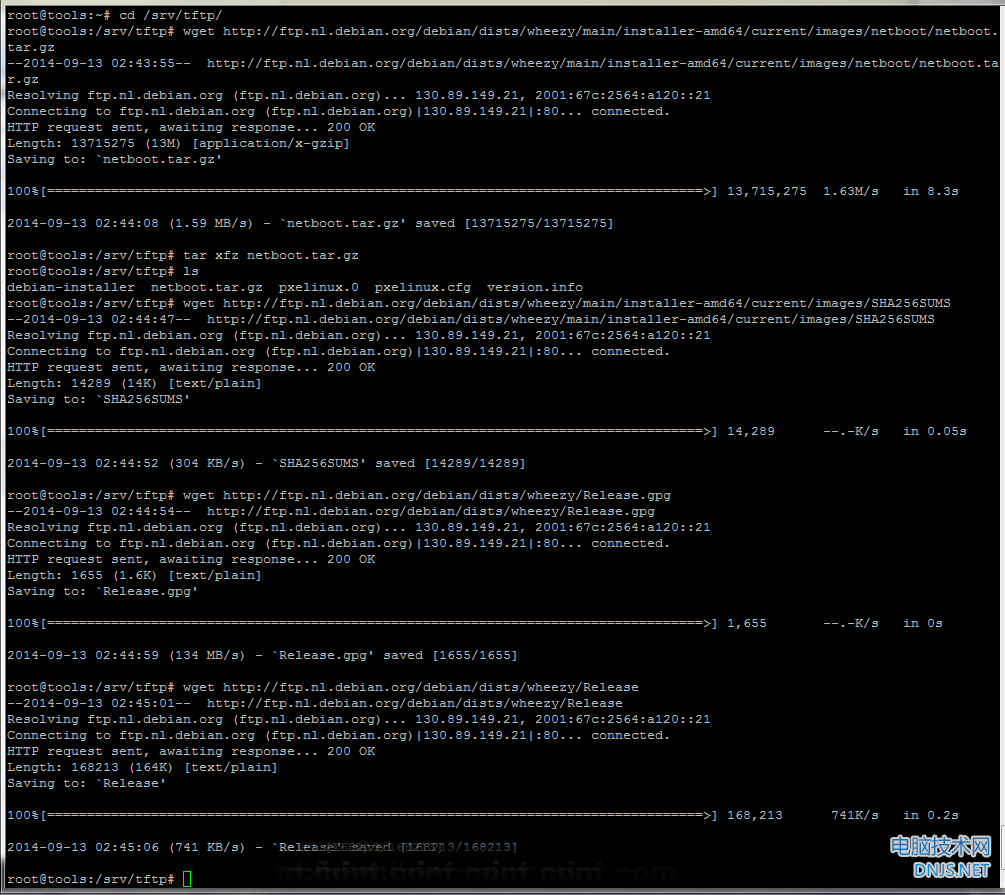 Download Debian NetBoot Files