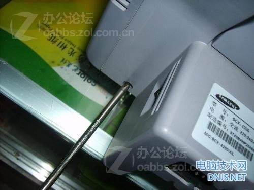 三星scx-4200一体机更换搓纸轮 图文详解图片6