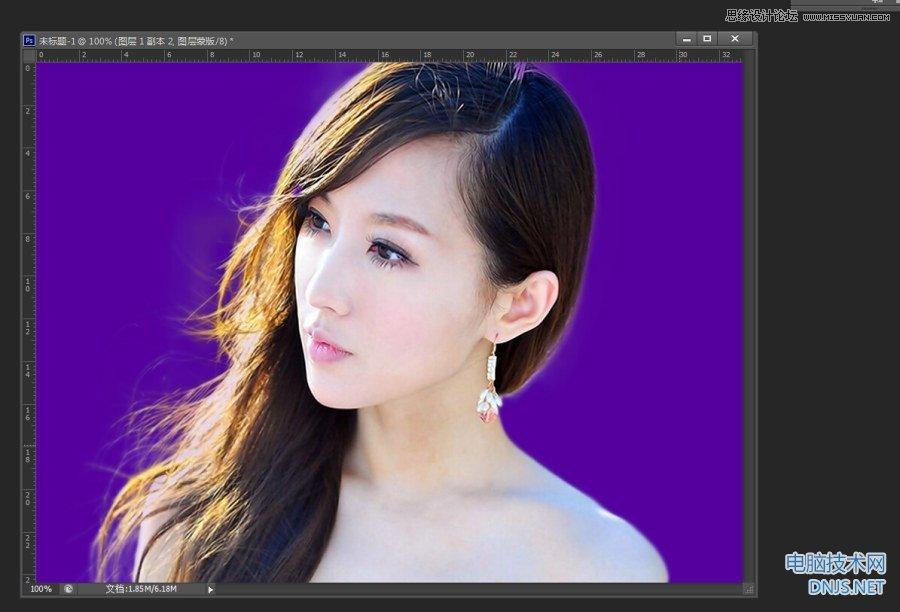 Photoshop快速的给人像照片抠头发教程,PS教程