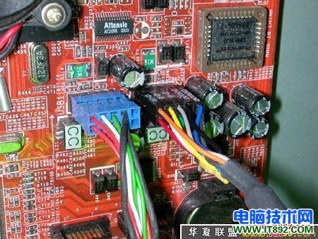 电脑机箱前置usb面板连接图